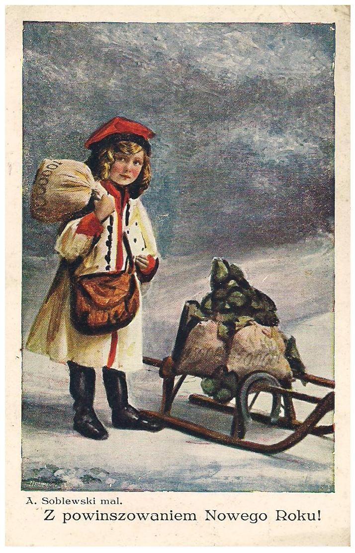 Pocztówka świąteczna, Zakopane 1931 r. | Christmas - Vintage Polish ...