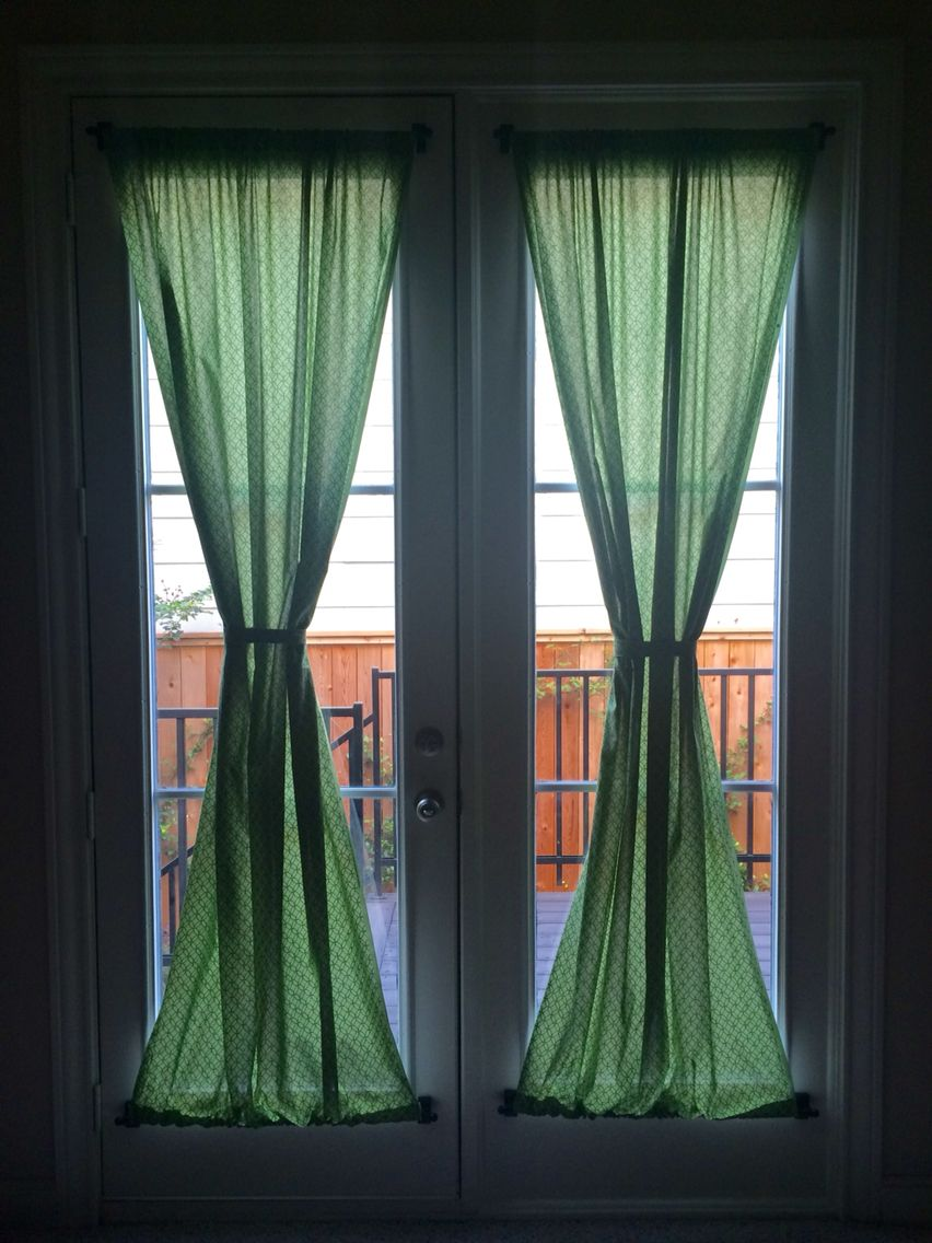 French Door Curtains Magnetic Curtain Rods Attach Them To The Metal Doors Magnetic Curtain Rods Curtains Metal Door