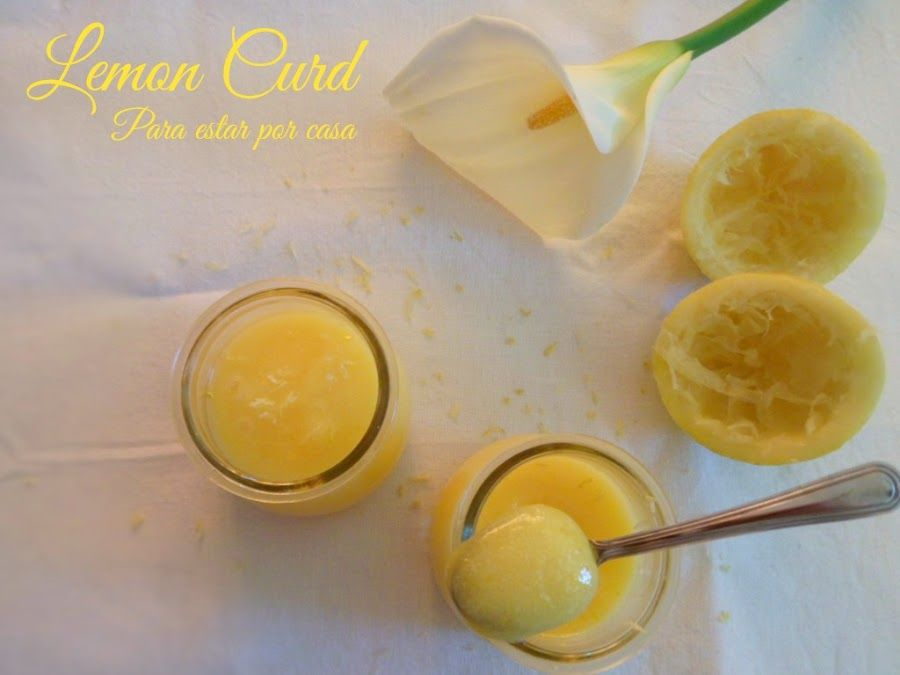 Lemon Curd, crema de limón inglesa