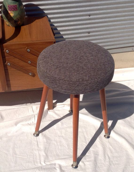vintage 60s furniture. Retro Vintage Stool With Timber Legs Fully By Littlebitmelq Vintage 60s Furniture