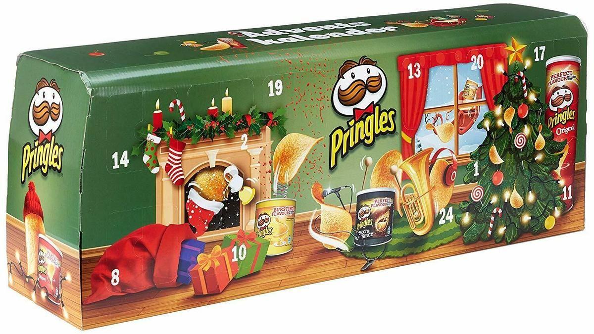 Pringles Chips Adventskalender Grun 23 Kleine Dosen 1 Grosse Dose Knabbern 1120 G Adventkalender Adventskalender Coole Adventskalender