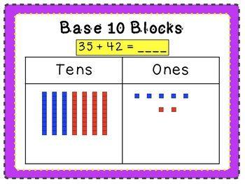 adding 2 digit numbers using base ten blocks addicted to teaching base ten blocks numbers. Black Bedroom Furniture Sets. Home Design Ideas