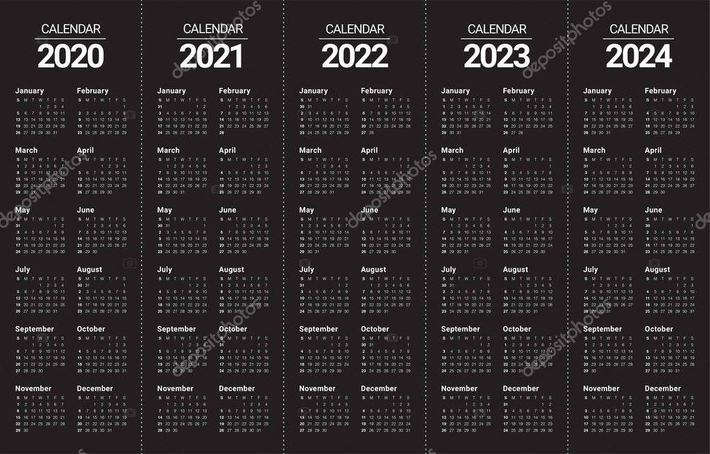 Calendrier Stock Car 2022 Year 2020 2021 2022 2023 2024 calendar vector design template