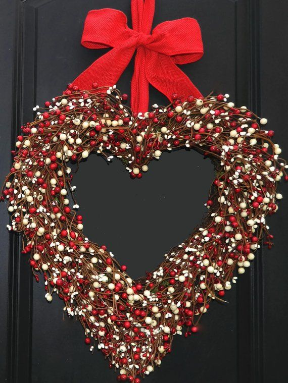 Valentine Wreath Gift Heart Outdoor
