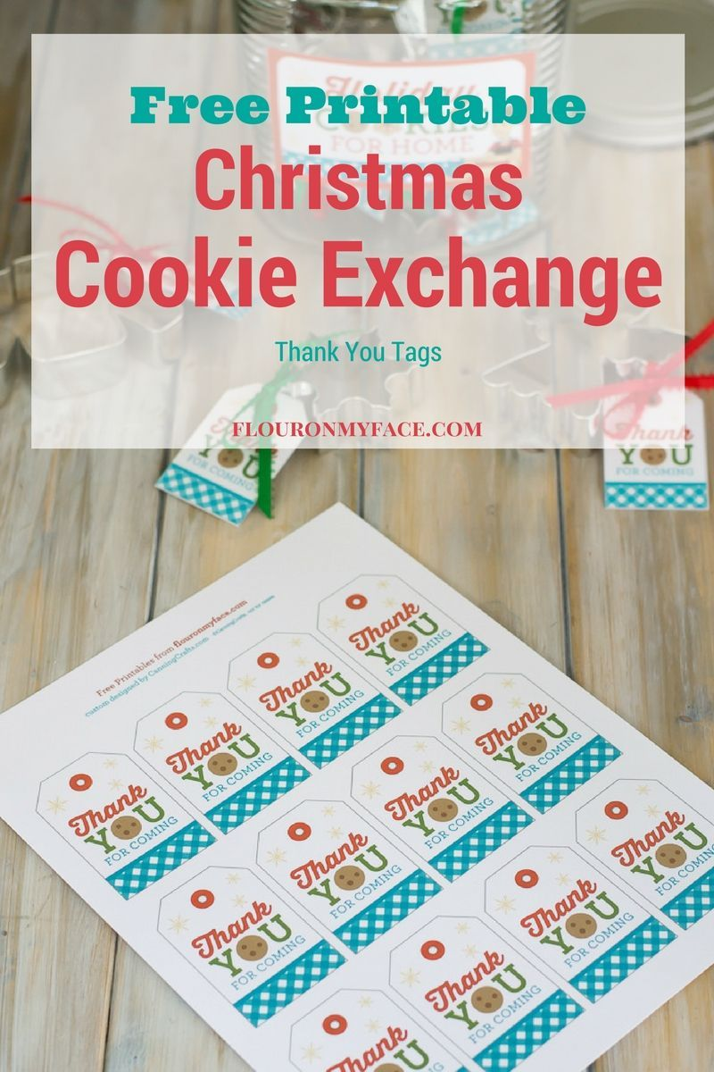 Christmas cookie exchange thank you gift tags free printable christmas cookie exchange gift tags from the flour on my face free cookie exchange negle Choice Image