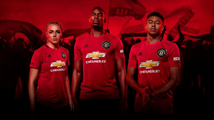 Manchester United 19 20 Home Kit Released Footy Headlines Manchester United Manchester United Home Kit Manchester United Players