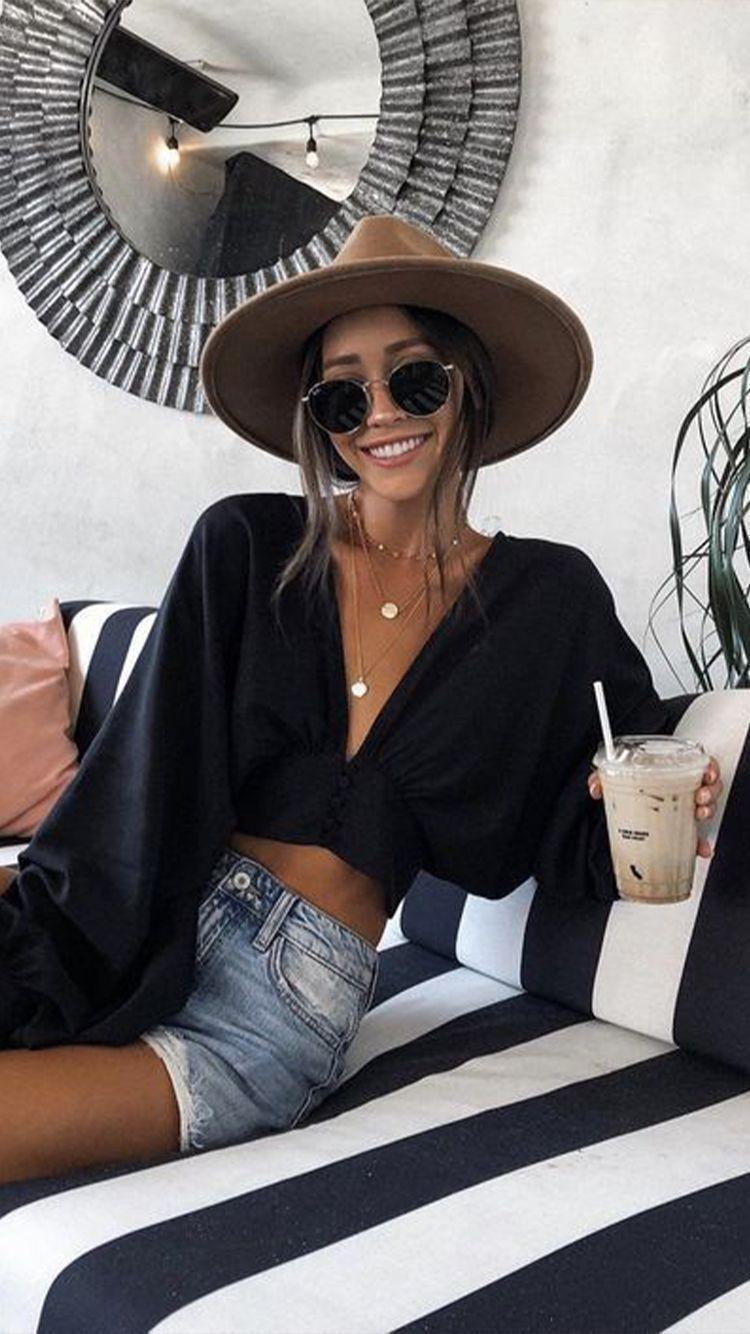 Bequeme schwarze Outfits für heißes Wetter - Bequeme schwarze Outfits für hei