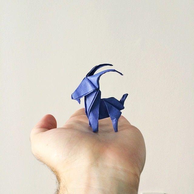 Goat Origami by Ross Symons on Instagram