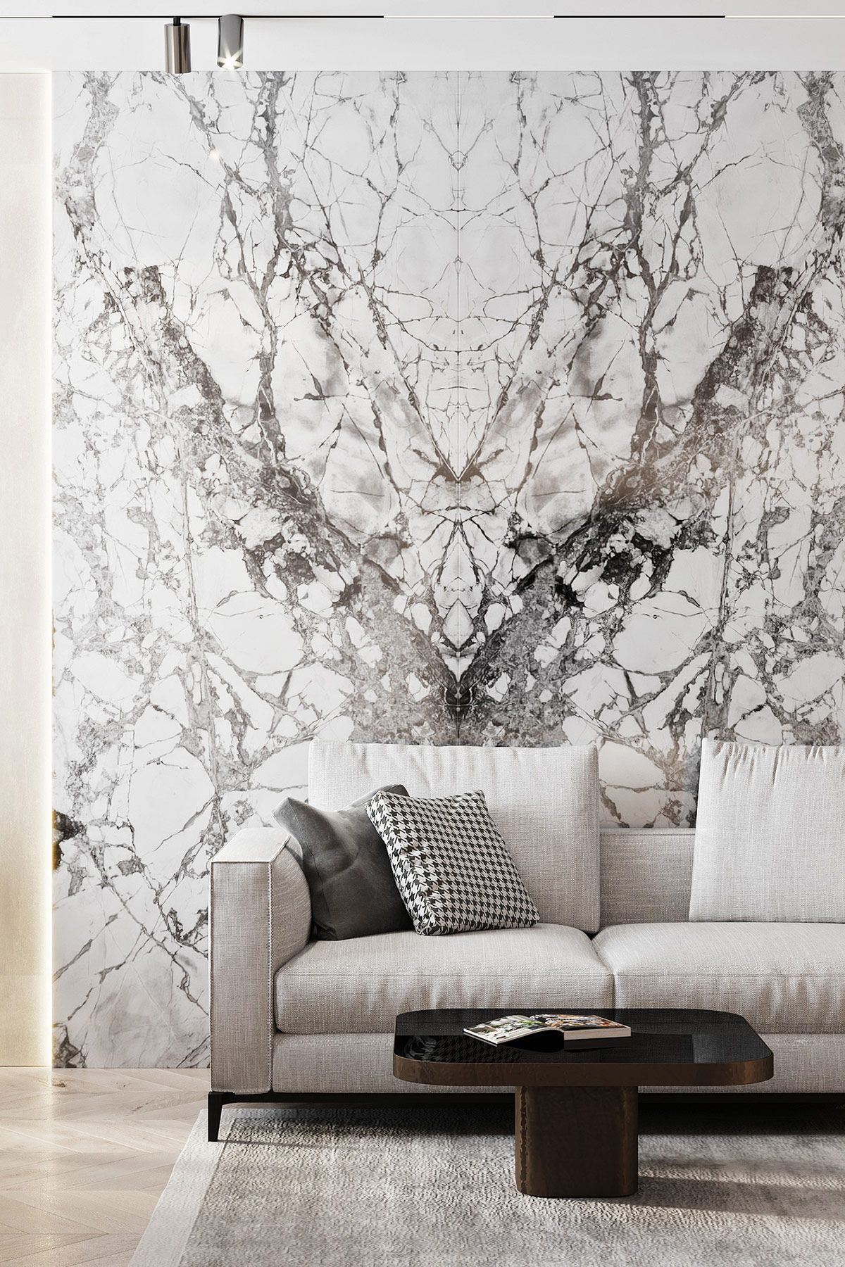 3 Luxe Home Interiors With White Marble U0026 Gold Accents