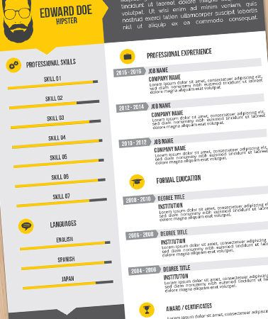 Illustrator Resume Templates Pingo Resume On Resume Templates Eps  Pinterest  Adobe