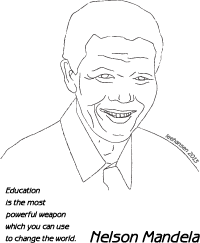 Printable Nelson Mandela Coloring Poster Nelson Mandela Art Nelson Mandela For Kids Nelson Mandela Activities