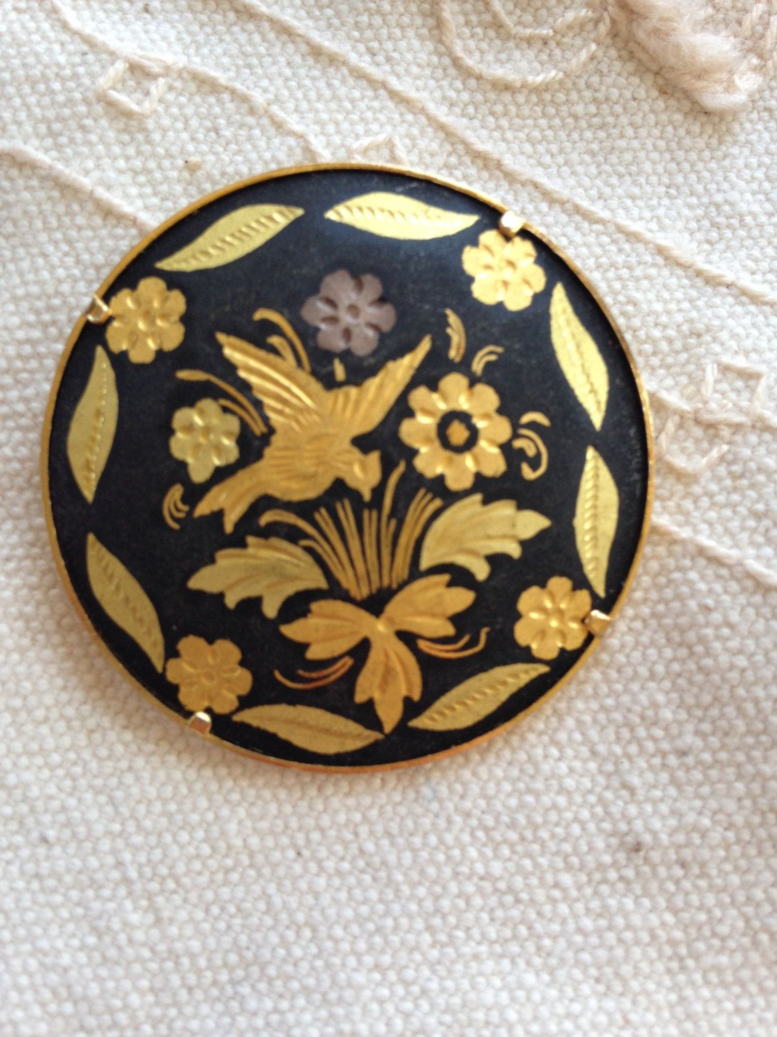 Damascene Brooch Pin spanish damascene jewelry spanish jewelry