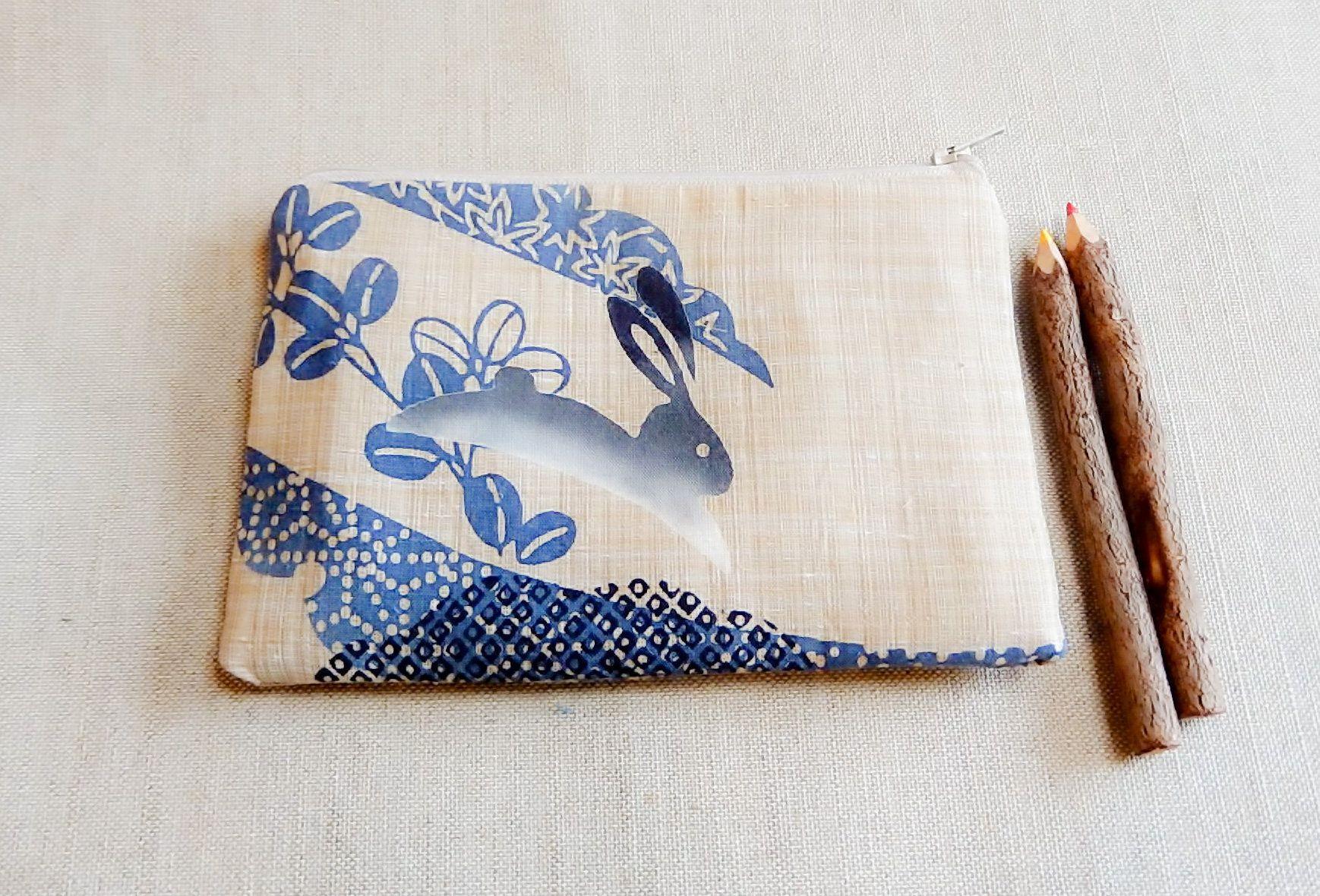 Make Up Bag Pencil Case Bunny Gift For Her Easter Gift