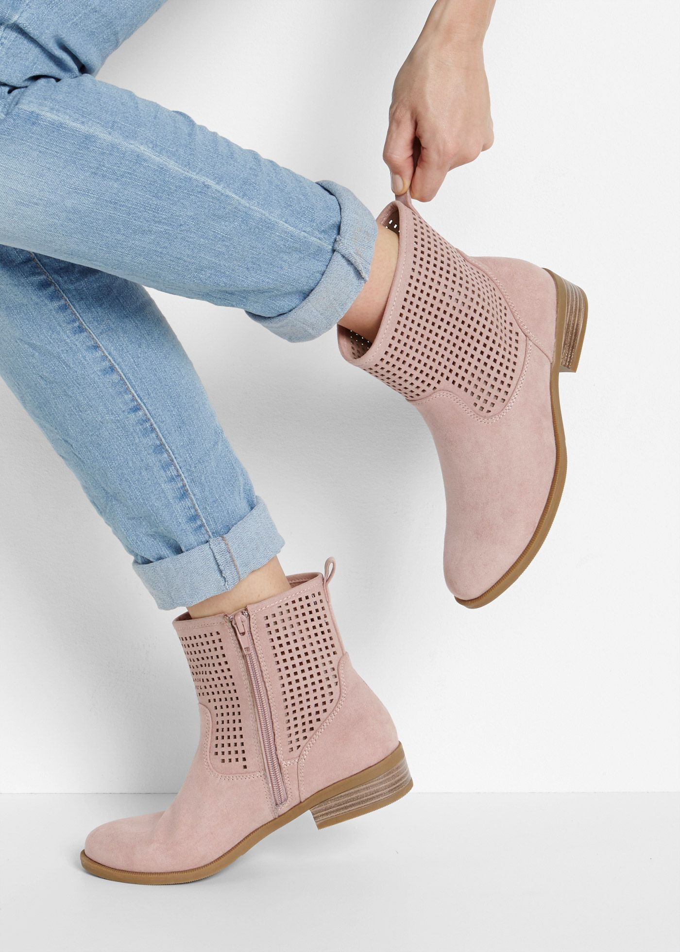 Stiefelette Stiefeletten Stiefeletten Altrosa Und Schuhe
