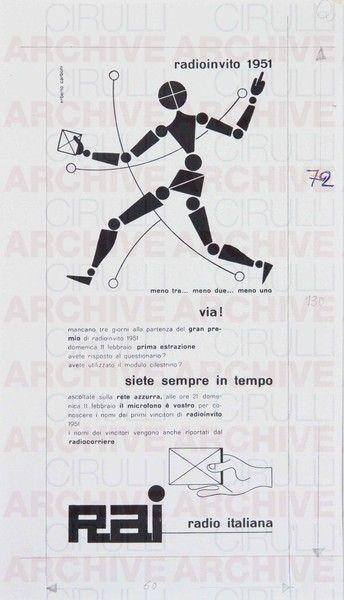 Erberto Carboni Rai Radio Italiana. Radioinvito, 1951