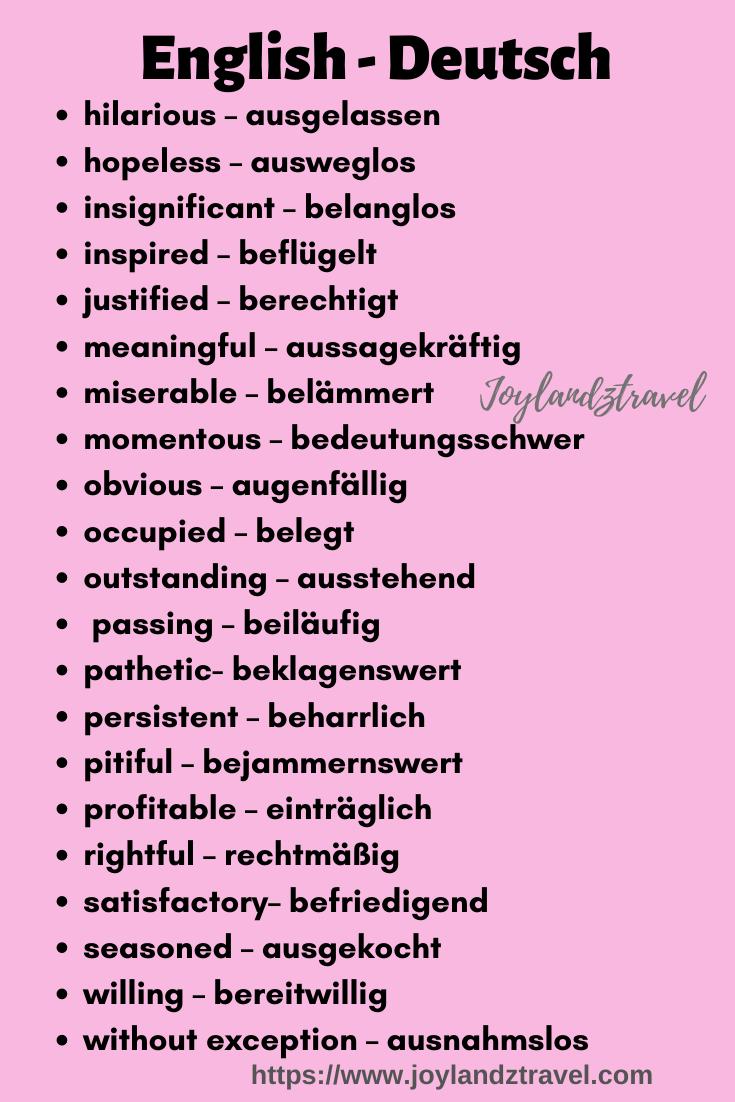 English   Deutsch   Deutsch in englisch, Deutsch lernen, Englisch ...