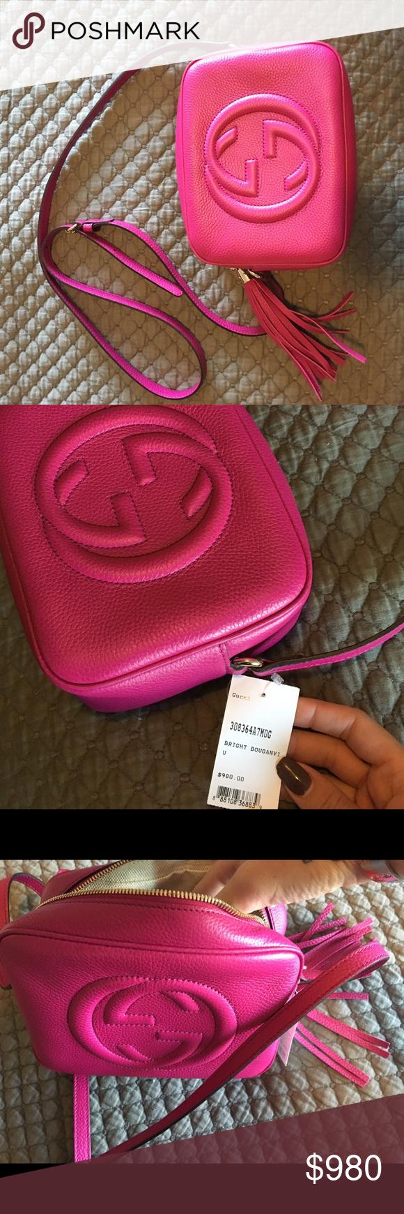 Bright pink Gucci bag Gucci pink soho bag Gucci Bags Crossbody Bags