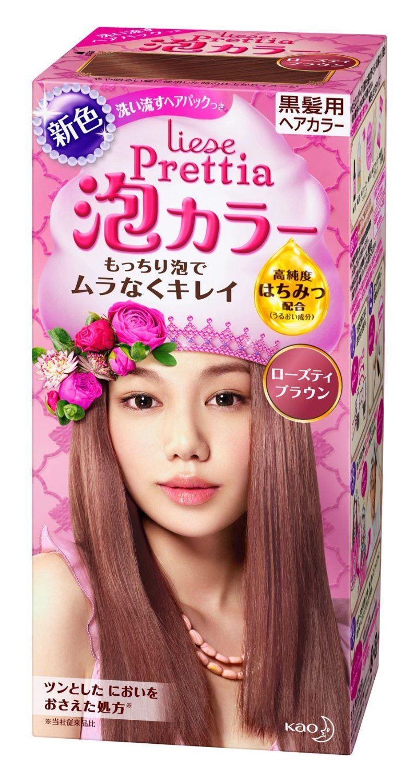 Amazon Kao Prettia Bubble Hair Color Rose Tea Brown Beauty