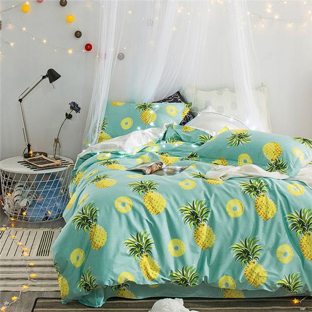 Pineapple Bedding Set King Queen Size In 2019