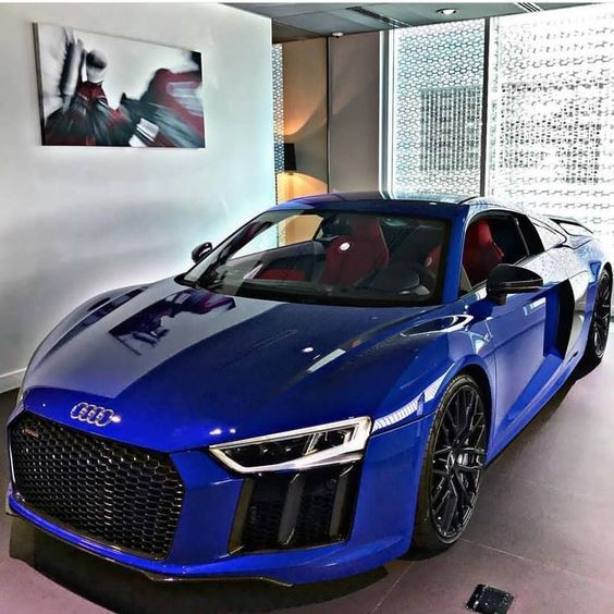 Audi Strong Blue Luxury Cars  #audir8