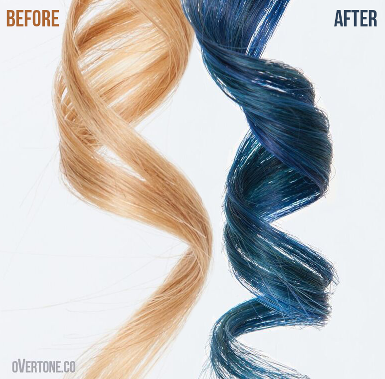 Extreme Blue Go Deep Over Medium Blonde Medium Blonde Medium Blonde Hair Overtone Hair