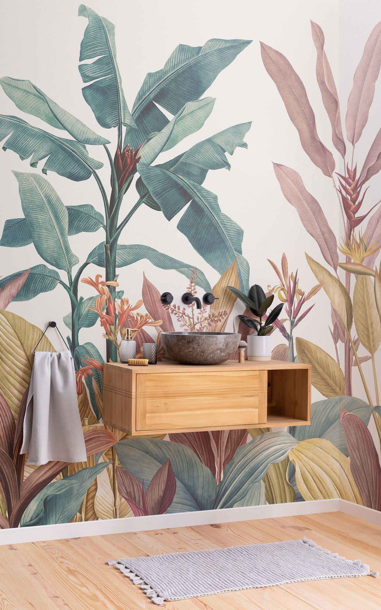 These beautiful wall murals are inspired by the most popular botanical artist in history