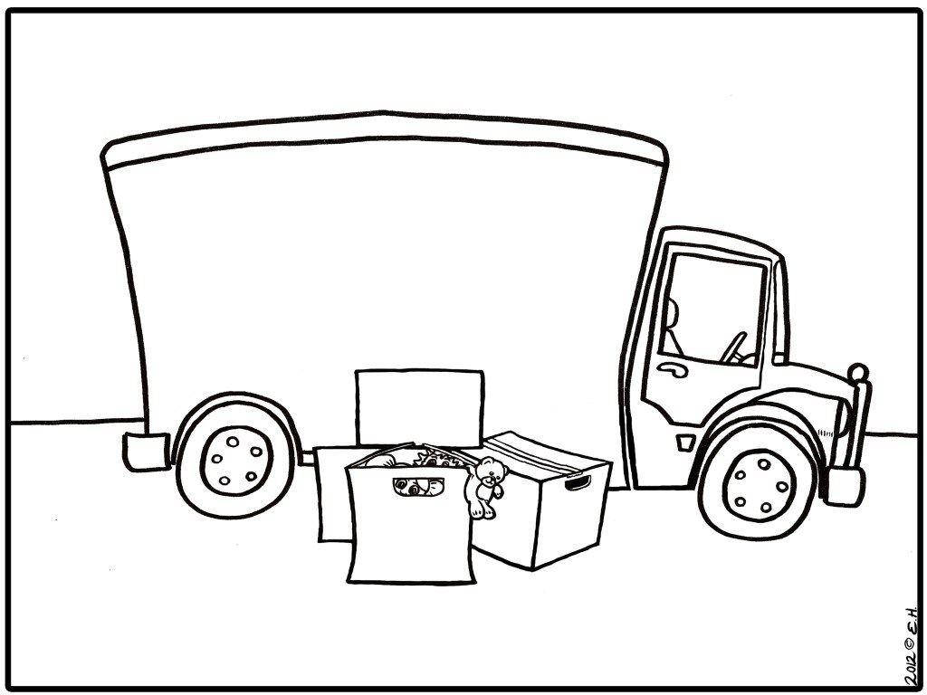 afbeeldingsresultaat voor verhuiswagen silhouet