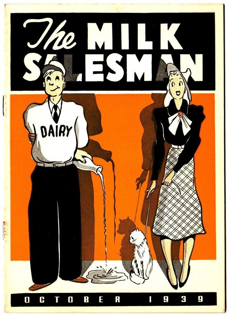 """The Milk Salesman"" magazine cover - October 1939"