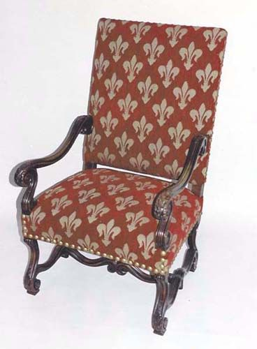 Louis XIV Armchair - Circa 1880, Hand-Carved, Walnut. Details ...