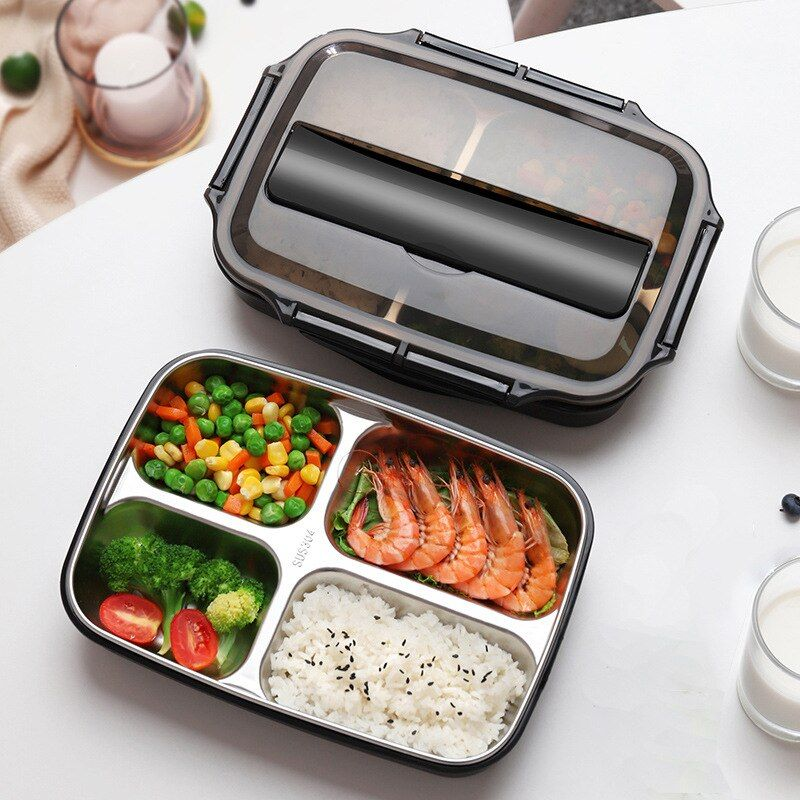 #3/4 #grid #portable #stainless #steel #insulated #lunch #box #heat-resistant #student #tableware #picnic #school #food #container #kitchen,dining #bar