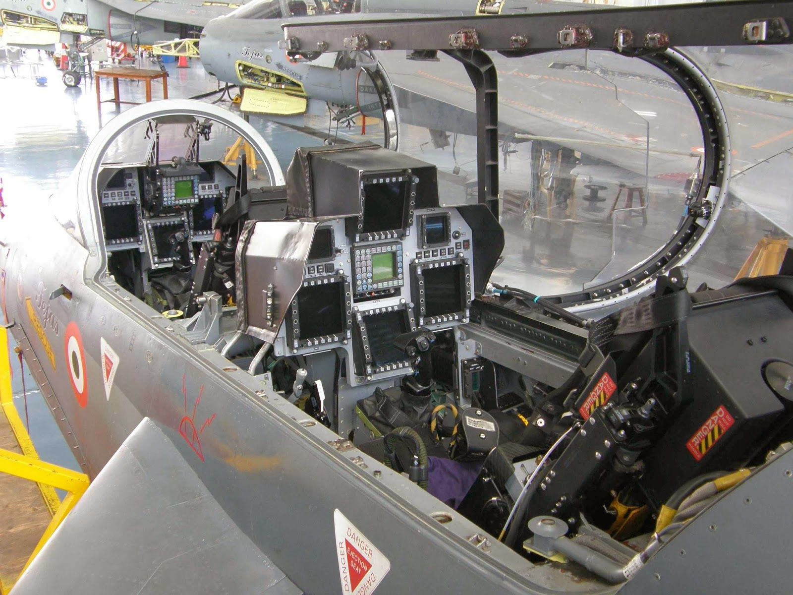Cockpit Views Of A Trainer Variant Indian Lca Tejas Cockpit