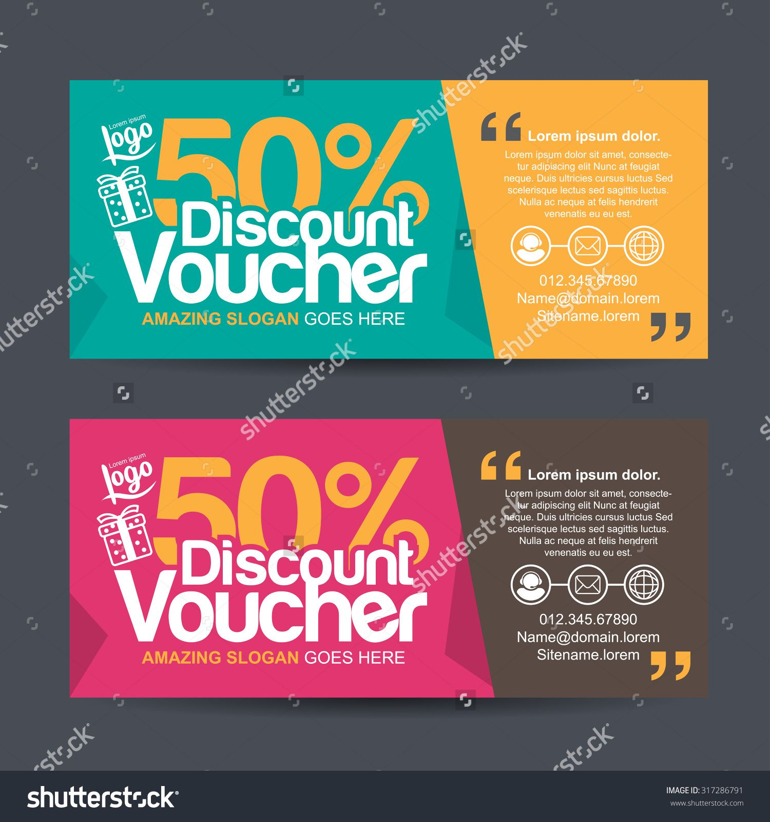 Discont design google search banner pinterest free vectors gift voucher template with colorful patterncute gift voucher yelopaper Gallery