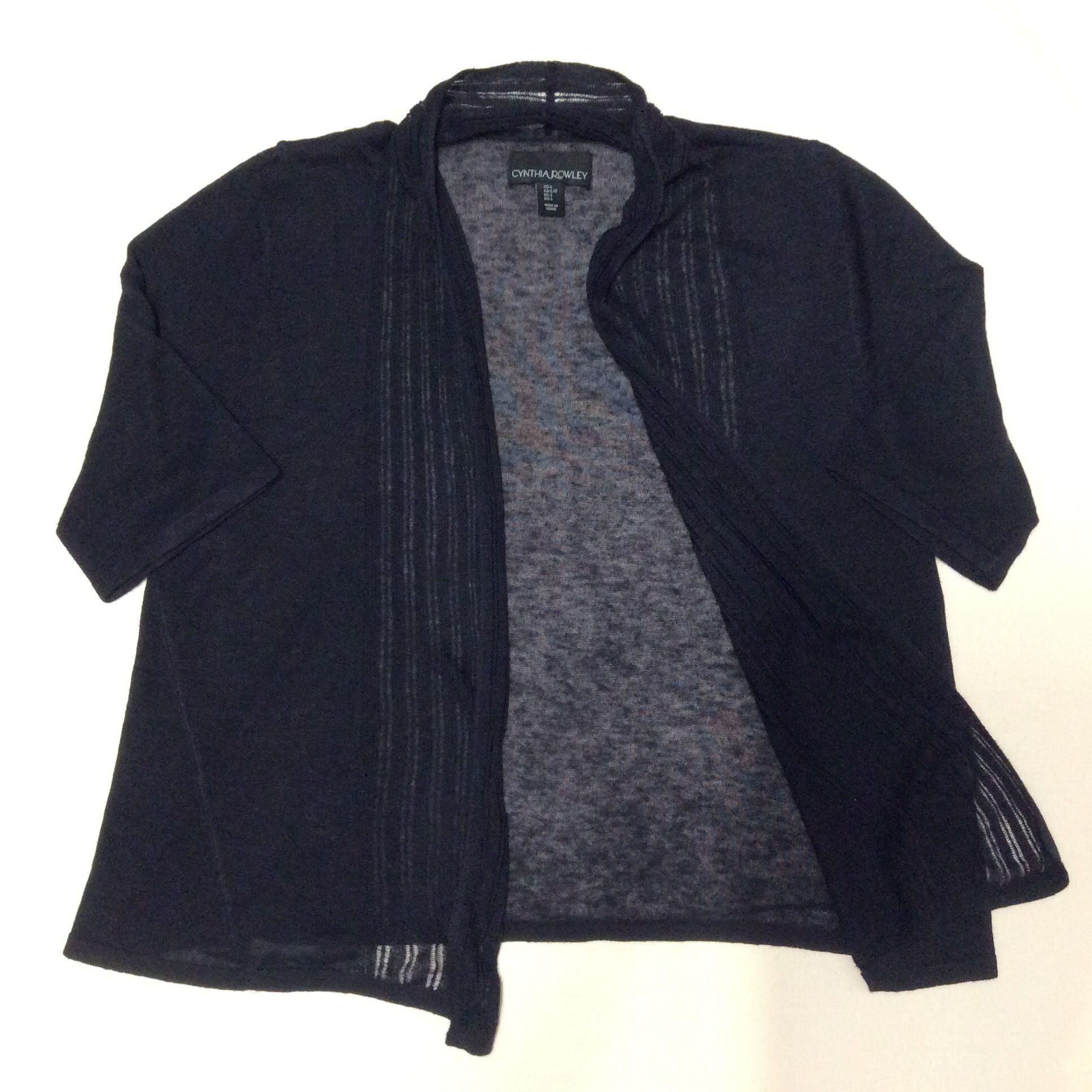 Own it: Cynthia Rowley Short Sleeve Cardigan in Navy, sz L. TJ ...