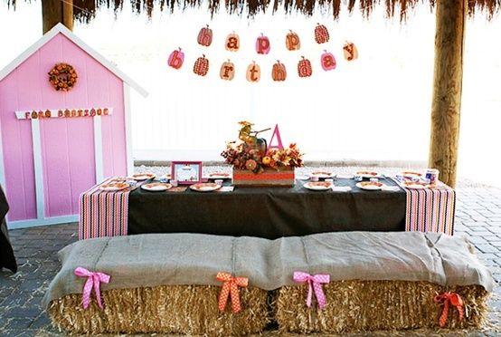 pumpkin patch birthday ideas | Fall Birthday Party Idea.