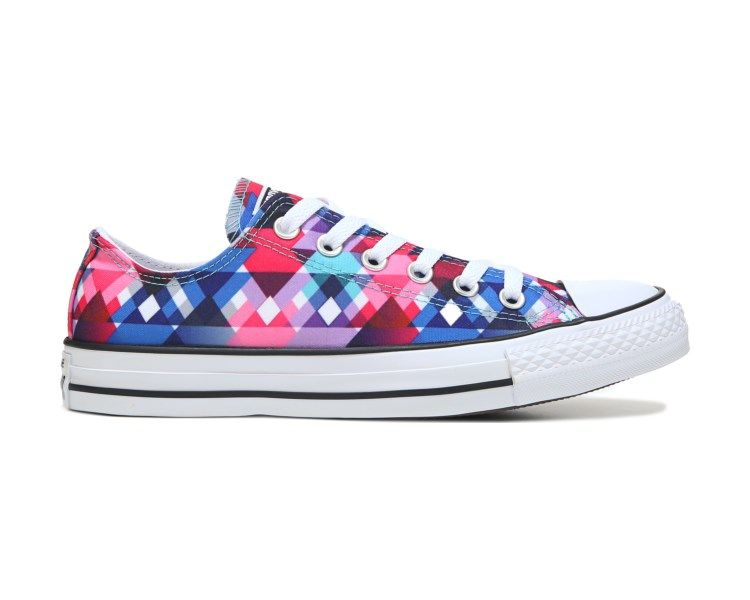 Brighten the day in the Chuck Taylor All Star Print Low Top Sneaker from Converse.  Lace up canvas upperStitching detailRubber toe cap 248576a37