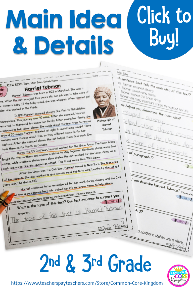 Are You Looking For Engaging Reading Passages Focused On Topic Main Idea And Details Fo Third Grade Reading Activities Reading Passages Reading Comprehension