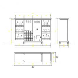 Bar cabinet   CAD Project in 2019   Cad blocks, Cad blocks