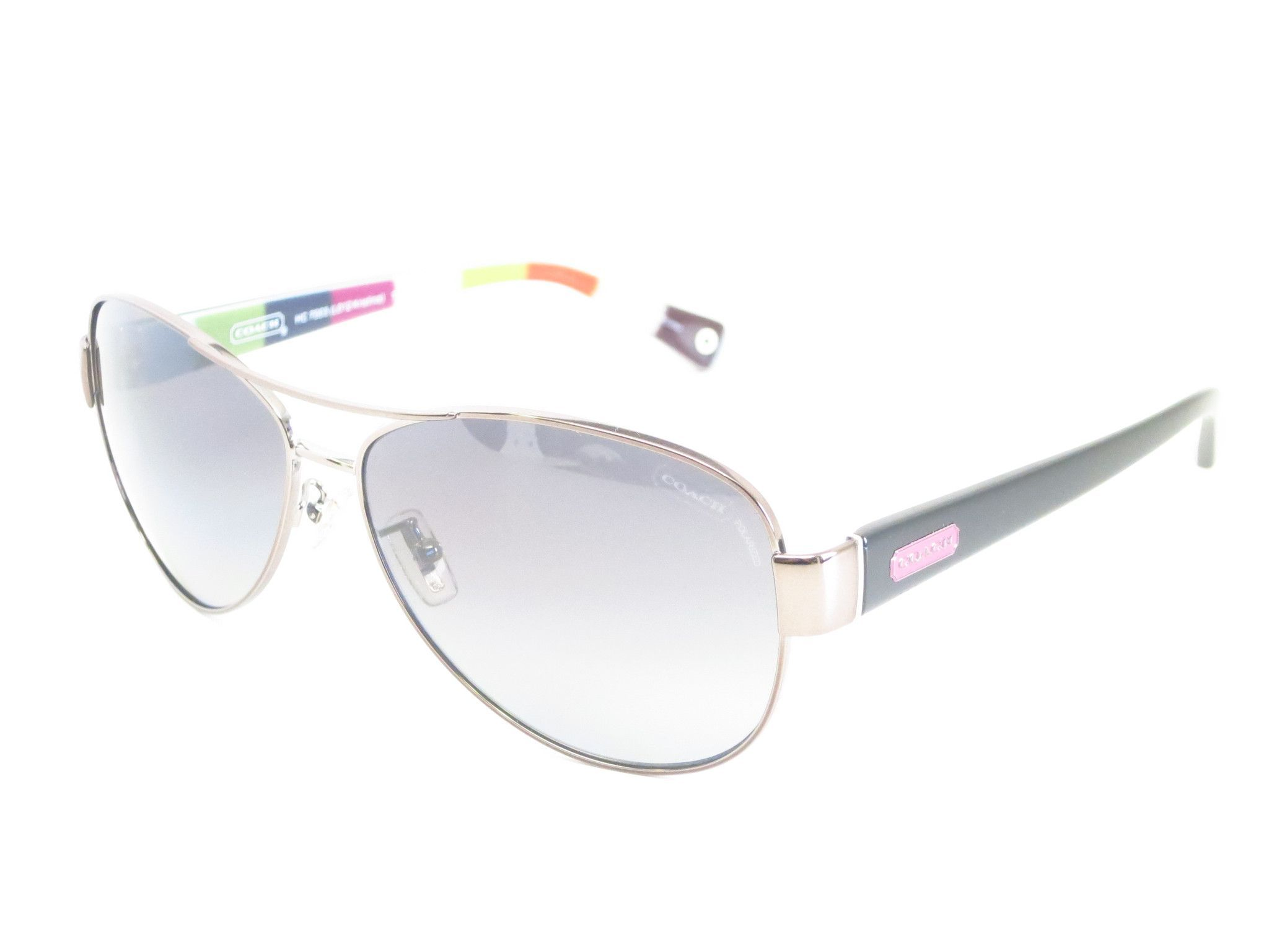 82679c95c7852 ... best price coach hc 7003 kristina 9010 t3 dark silver pink polarized  sunglasses 11e1c e9585