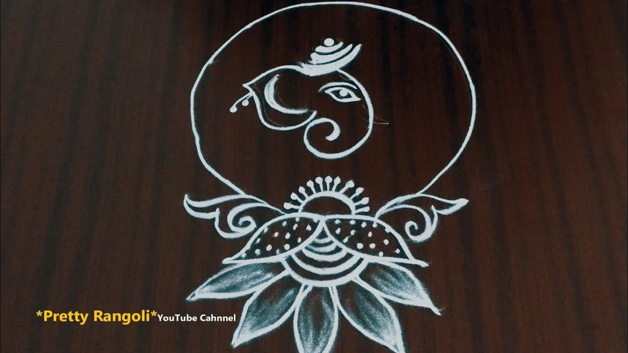 How to draw easy vinayagar kolam for beginners modern ganaesh chathurthi