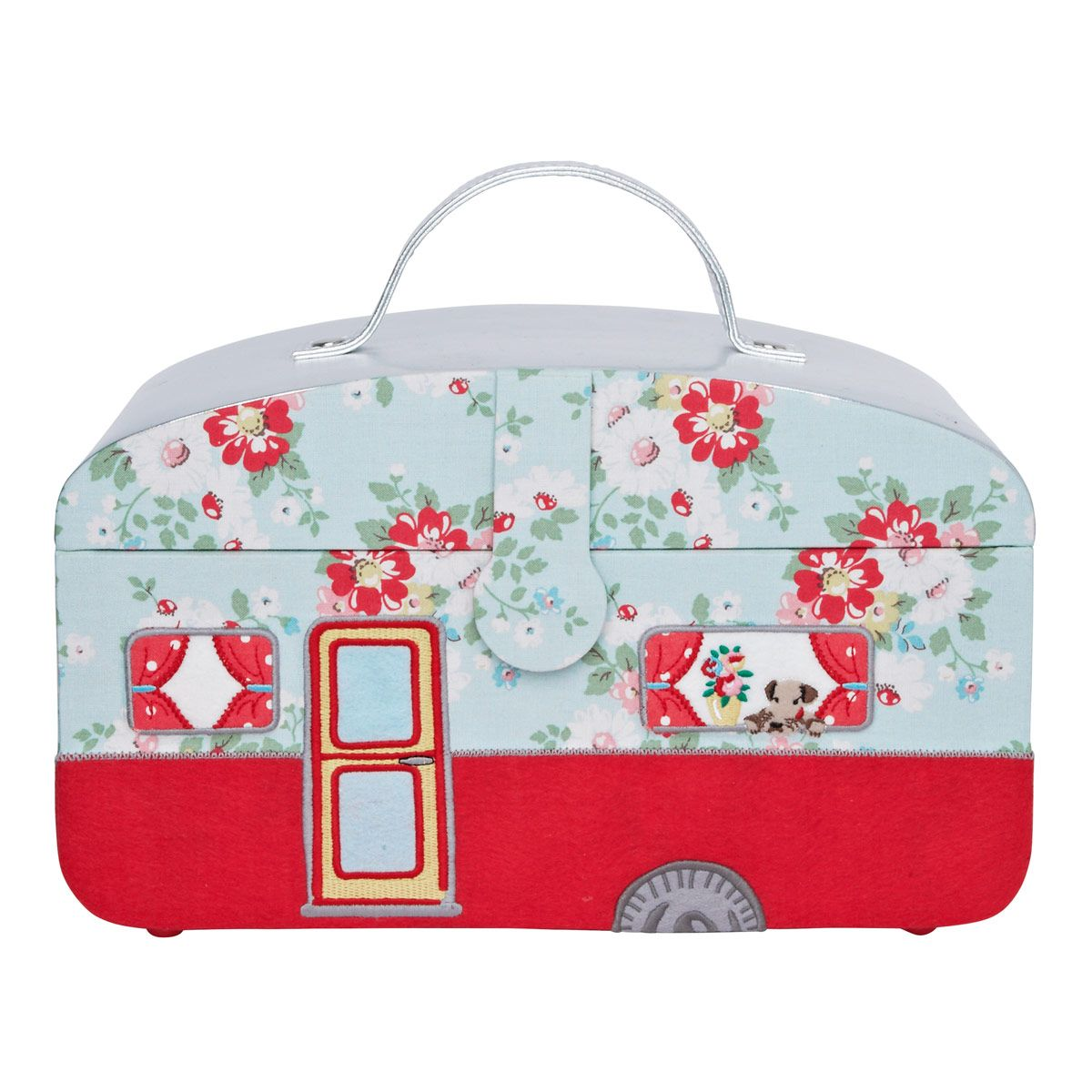 Knitting Sewing Crafts Bright Pop Caravan Sewing Box Cathkidston Oooh I Could Use This For All My Synchro Sewing Box Vintage Camper Cath Kidston