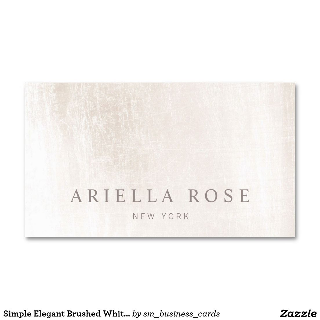 Simple Elegant Brushed White Marble Professional Business Card Zazzle Com Makeup Artist Business Cards Templates Esthetician Business Cards Business Card Maker