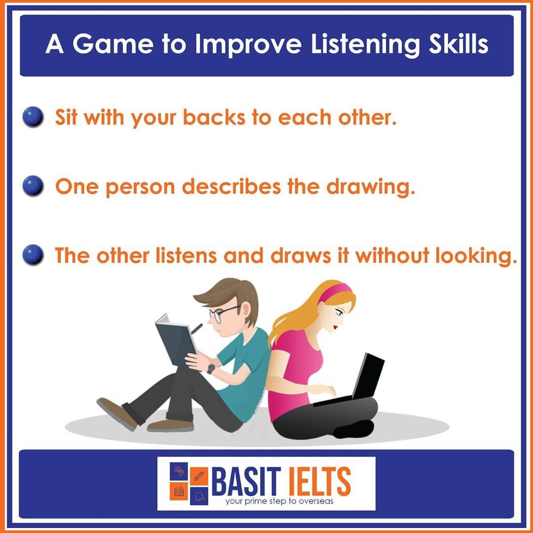A Game To Improve Listening Skills Learnenglish English Ielts Englishlanguage Esl Grammar Spokenenglish Englis Listening Skills Learn English Ielts