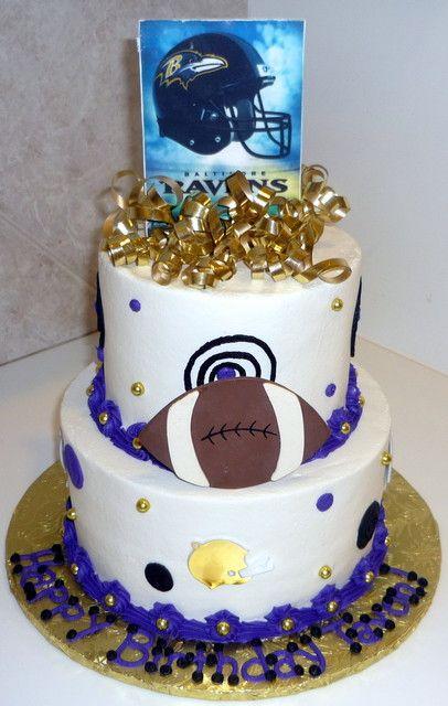 Ravens Football Birthday Cake Thinkin of my BOYSKyle and Dillon