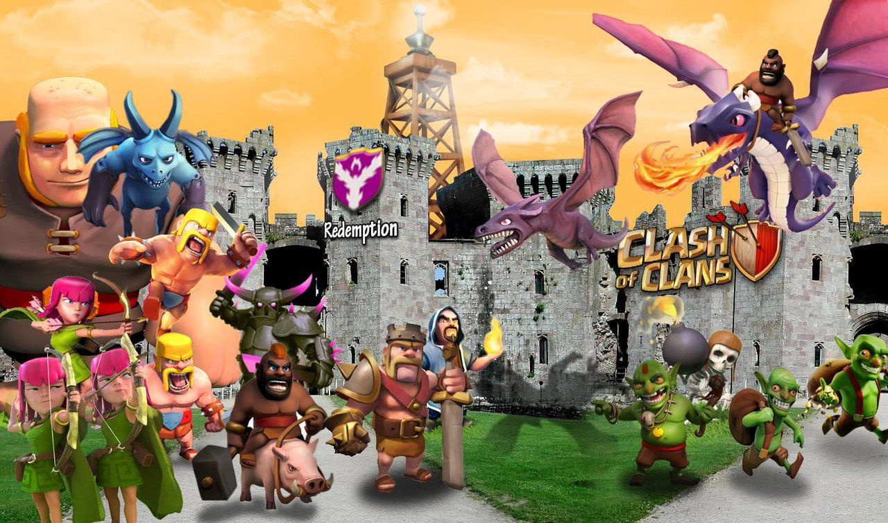Clash Of Clans Characters Clash Of Clans Wallpaper Hd By