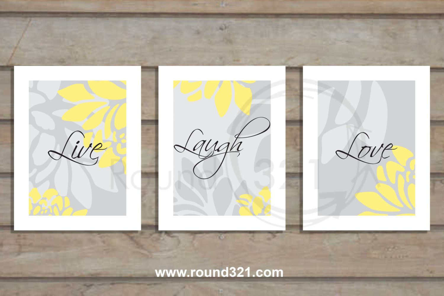 Set Of 3 Live Laugh Love Modern Fl Print Tan Aqua Bathroom Bedroom Home Decor This Beautiful Will Remind You The Important Things