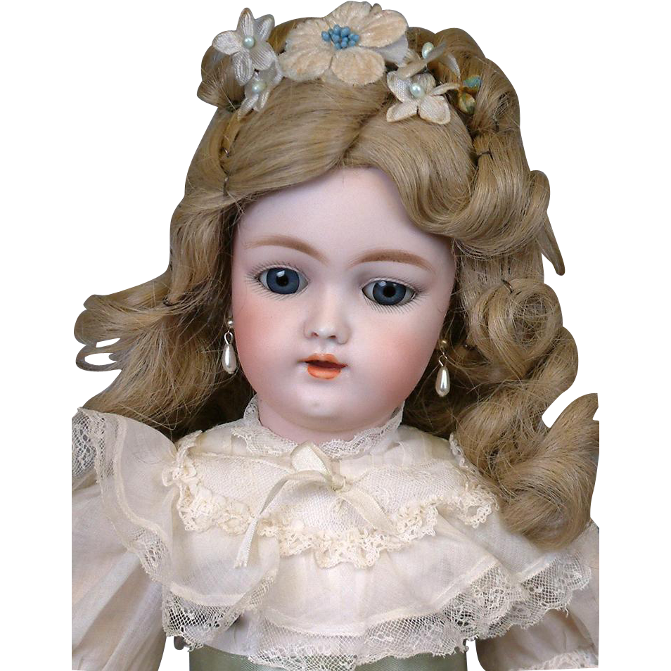 "Lovely Ballroom-Ready 17"" Heinrich Handwerck 109 Antique Bisque German Girl w/Fabulous Hairstyle & GREAT CONDITION"