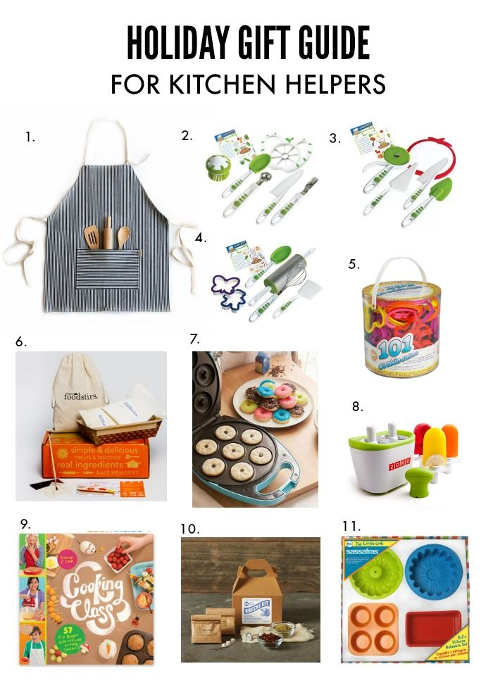 Gift Guide for Kitchen Helpers | fun gifts for kids who ...