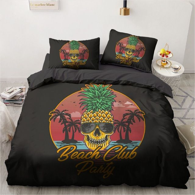 Photo of 3D PINEAPPLE SKULL BEDDING SETS
