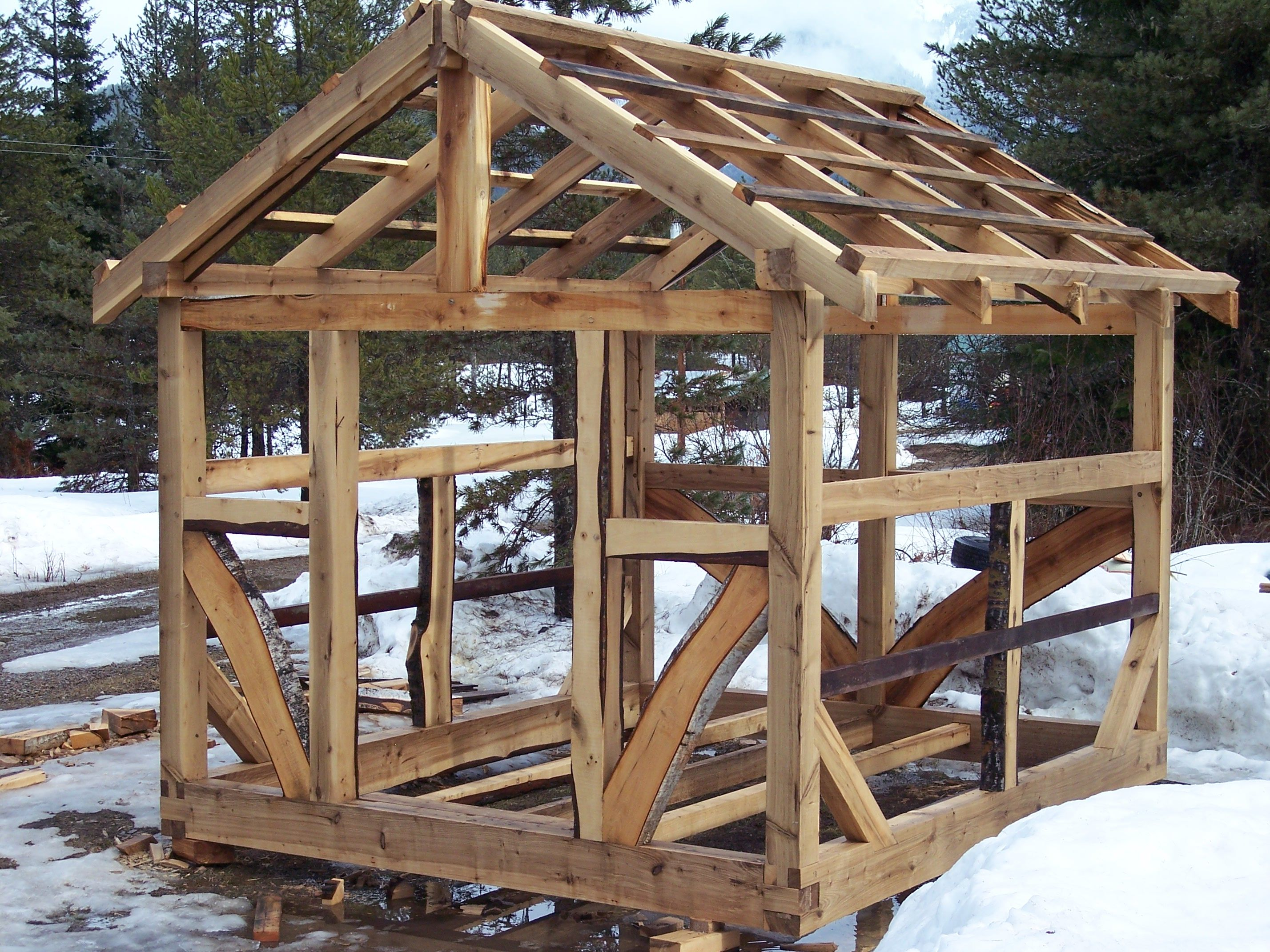 timber frame greenhouse