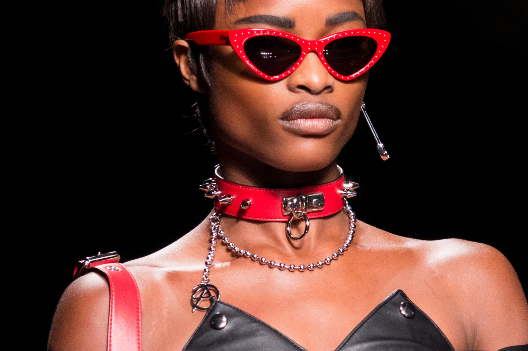 6eb212d3097 A look from Moschino s Spring 2018 collection. Photo  Imaxtree Trending  Sunglasses